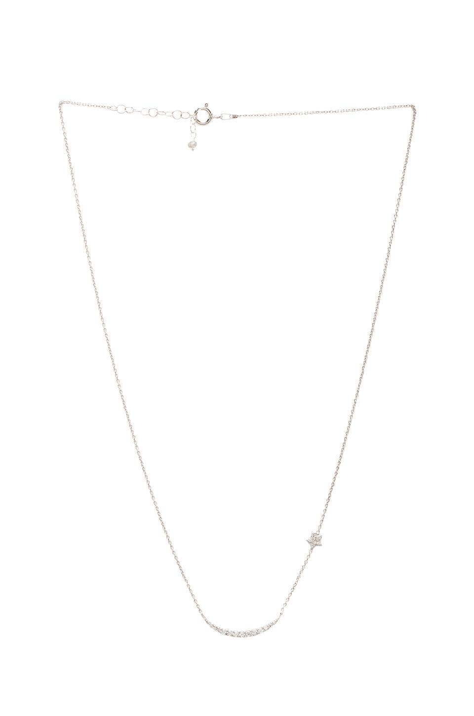 Natalie B Jewelry Natalie B Ottoman Moon and Star Necklace in Silver