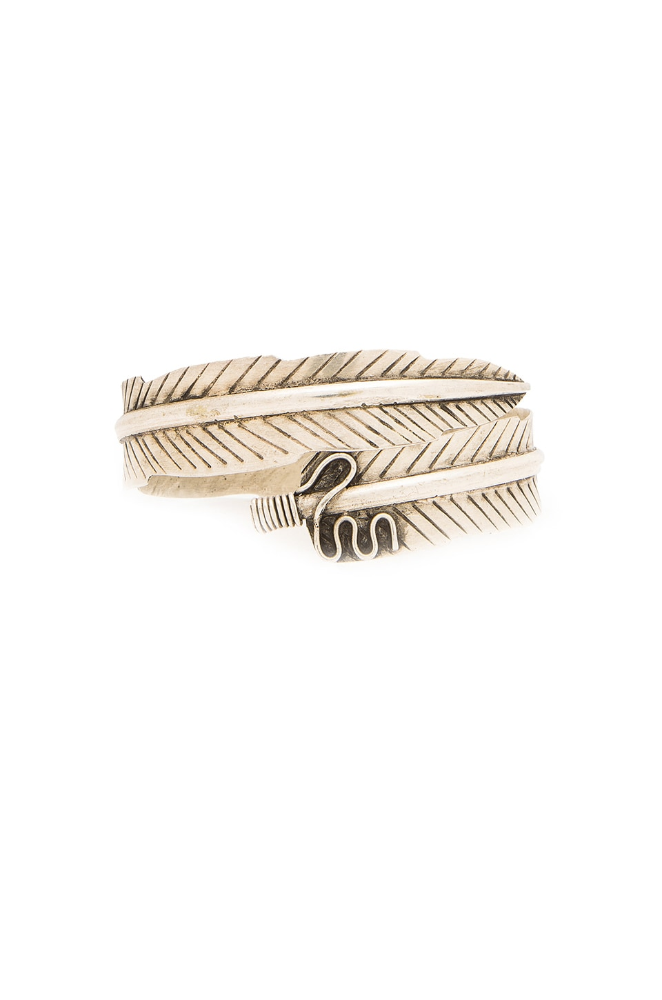 Natalie B Jewelry Wild Feather Arm Cuff in Silver
