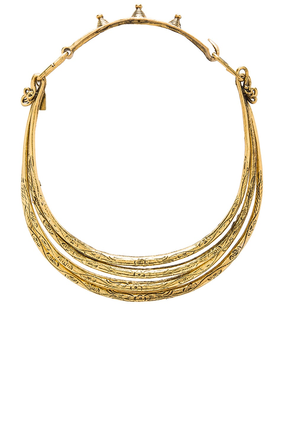 Natalie B Jewelry Soul Seeker Necklace in Metallic Gold
