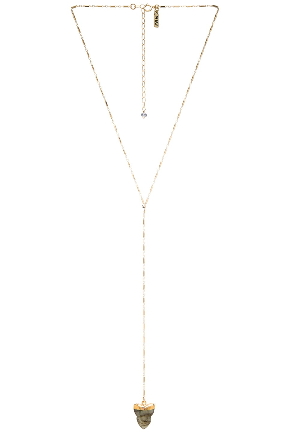 Natalie B Jewelry Deep Sea Lariat Necklace in Gold
