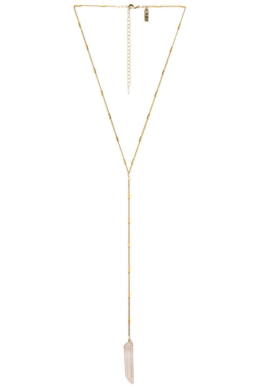 Natalie B Jewelry Energizer Lariat in Gold & Clear Quartz