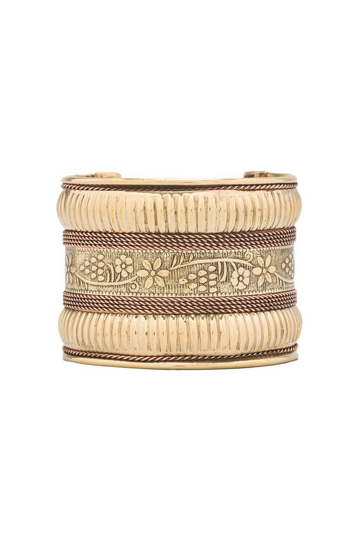 Natalie B Jewelry Natalie B Floral Cuff in Brass
