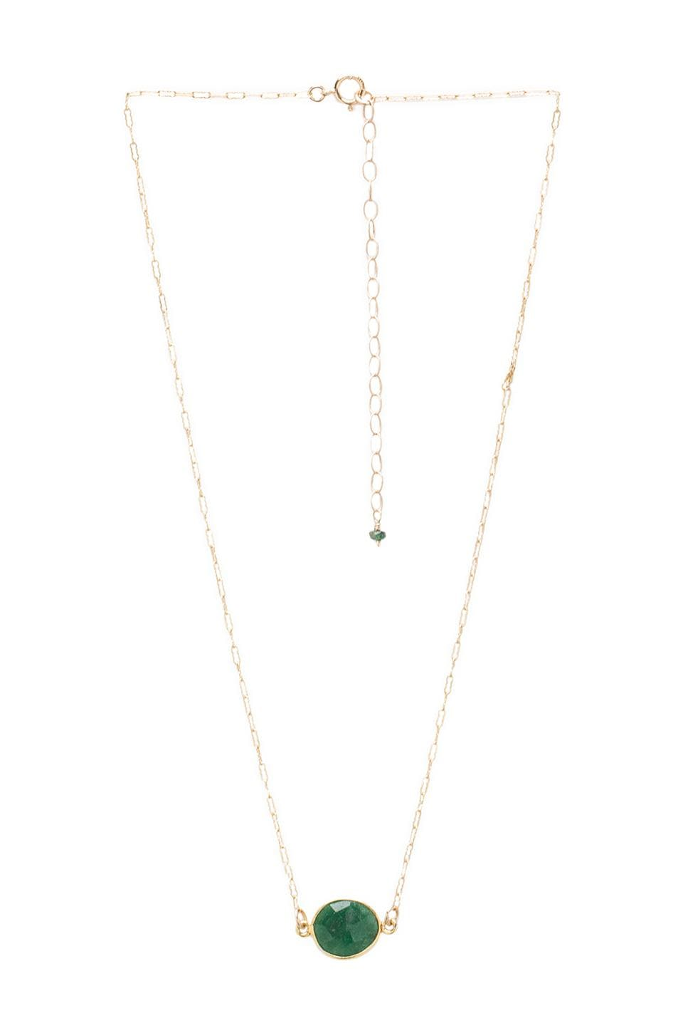 Natalie B Jewelry Natalie B Stone Drop Necklace in Emerald