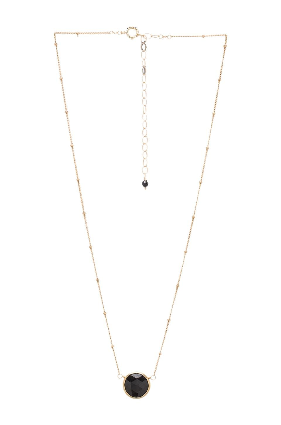 Natalie B Jewelry Natalie B Stone Drop Necklace in Onyx