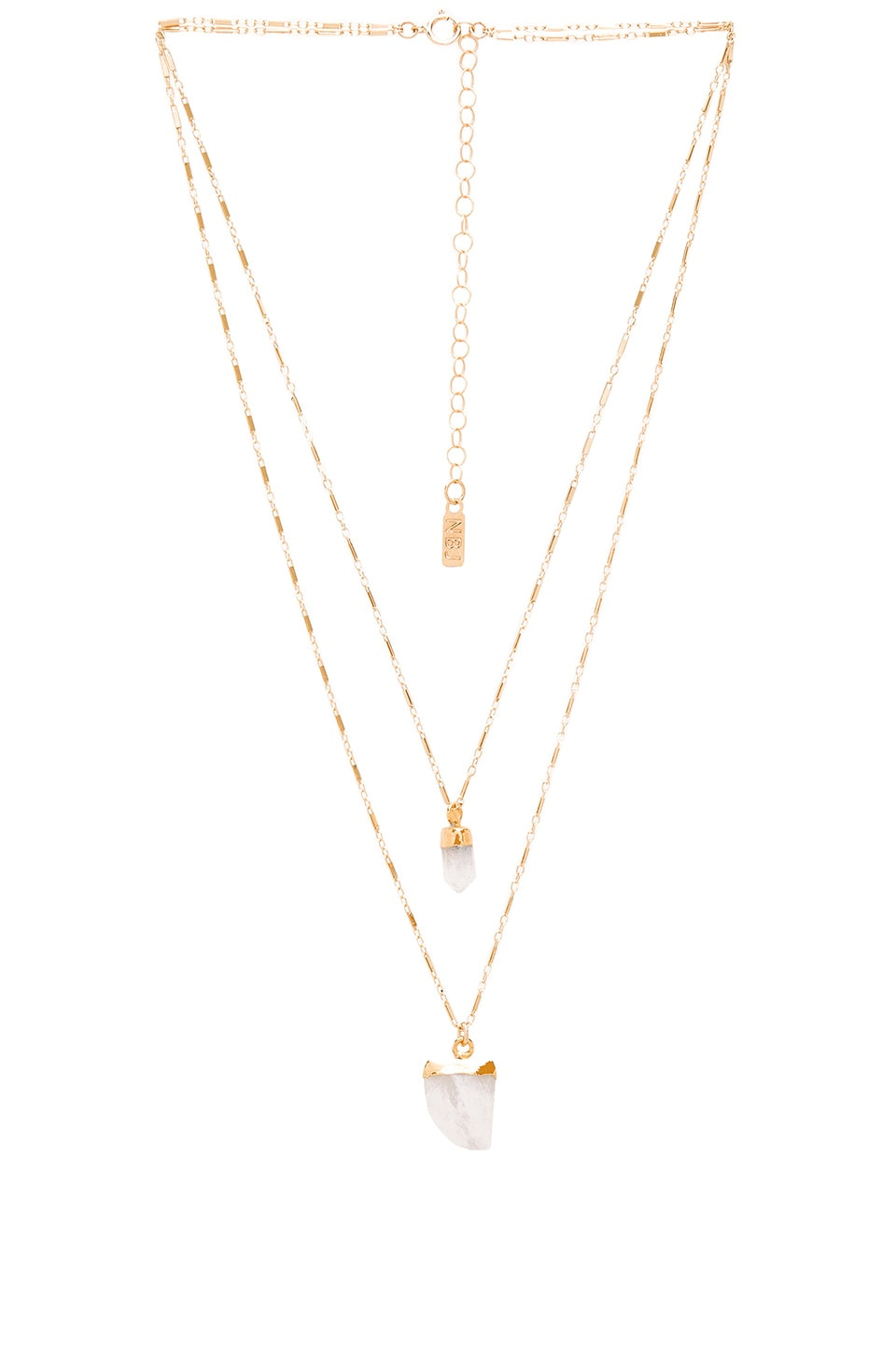 sideways layer layered necklace sileni olizz cross double compressed gold