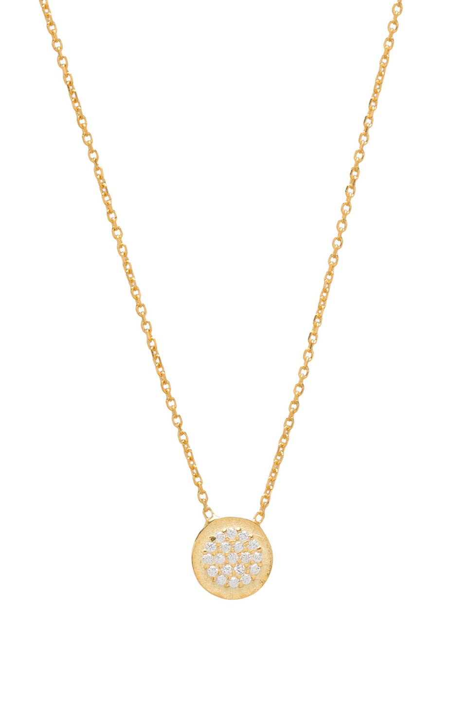 Natalie B Jewelry Natalie B Ottoman Small Disc Necklace in Gold