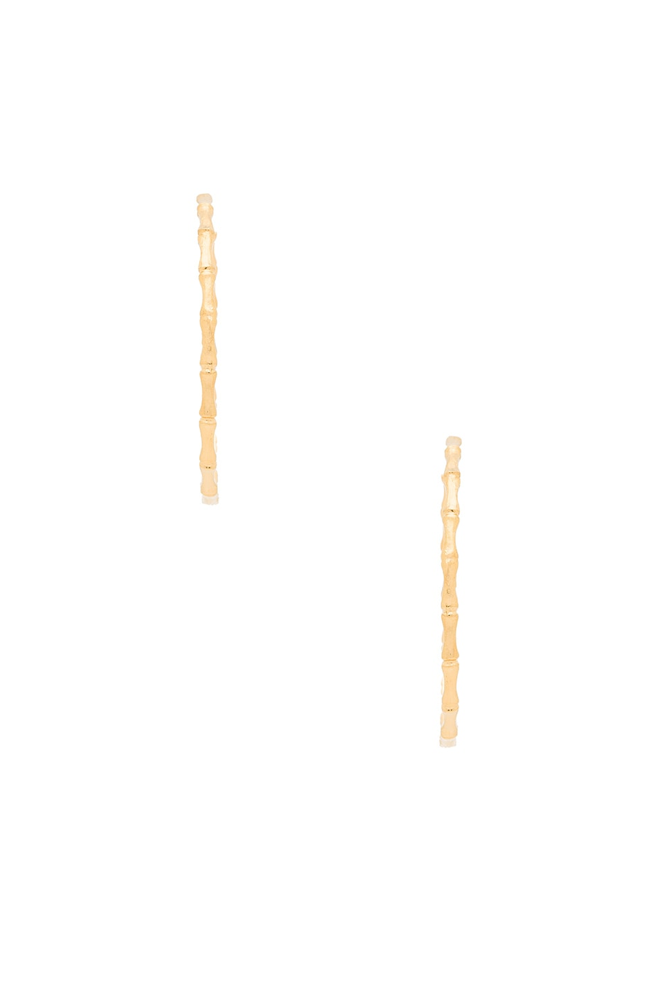 Bamboo Hoop Earrings by Natalie B Jewelry