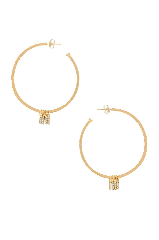 Natalie B Jewelry x REVOLVE Manhattan Hoop Earrings in Gold & Pave