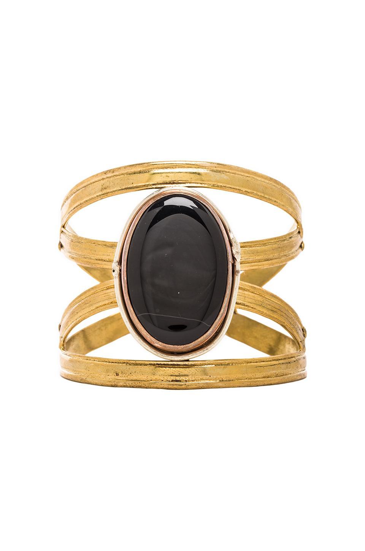 Natalie B Jewelry Spiritual Harmony X Cuff in Onyx