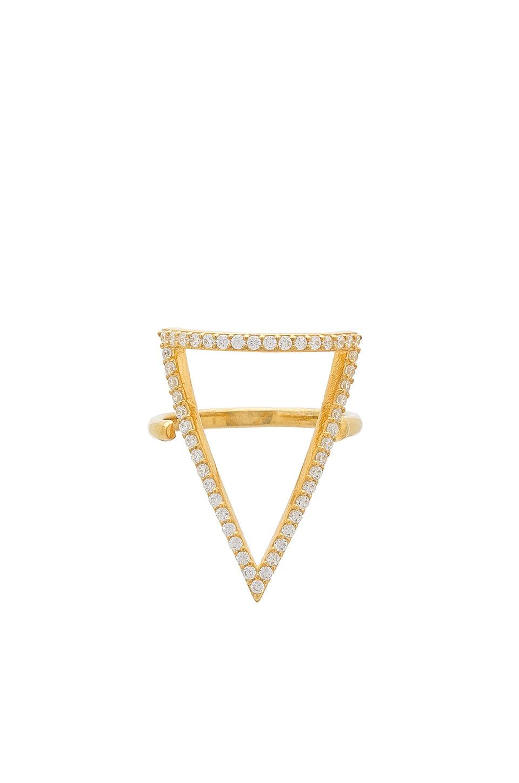 Natalie B Jewelry КОЛЬЦО С МОЗАИЧНЫМ ВКРАПЛЕНИЕМ OTTOMAN BERMUDA TRIANGLE