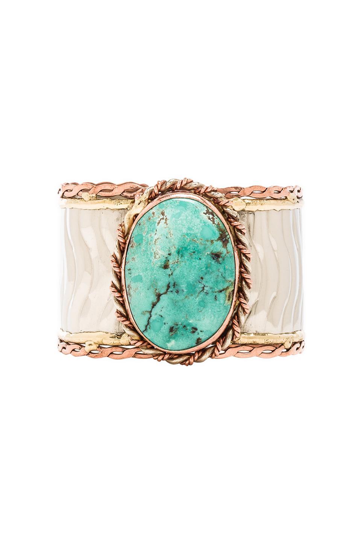 Natalie B Jewelry Kaisa Cuff in Turquoise