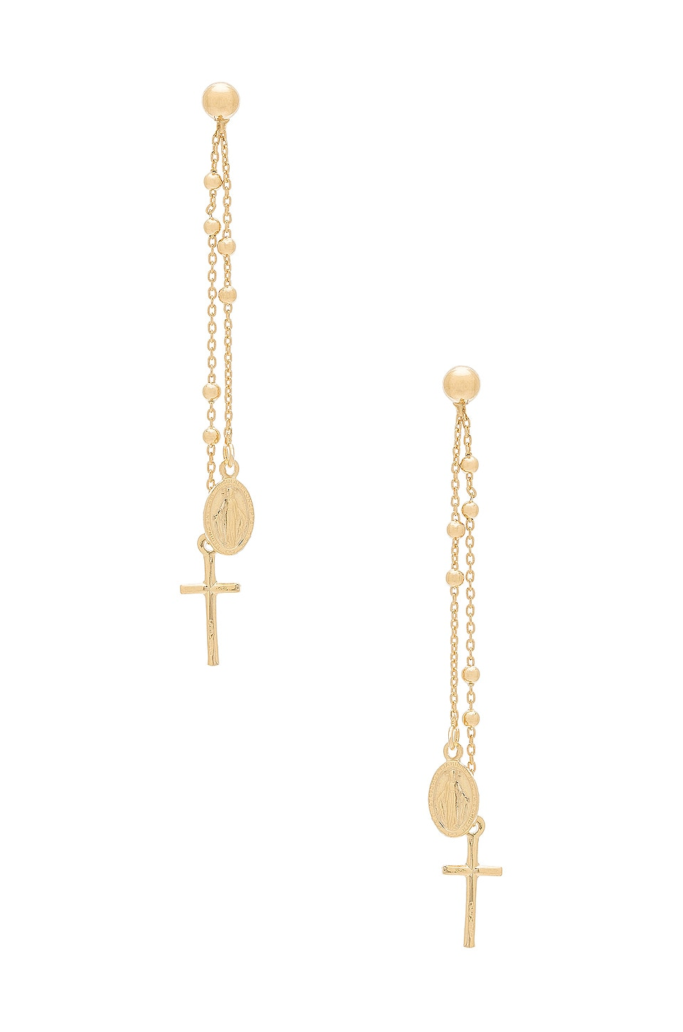 Natalie B Jewelry Miraculous Earrings in Gold