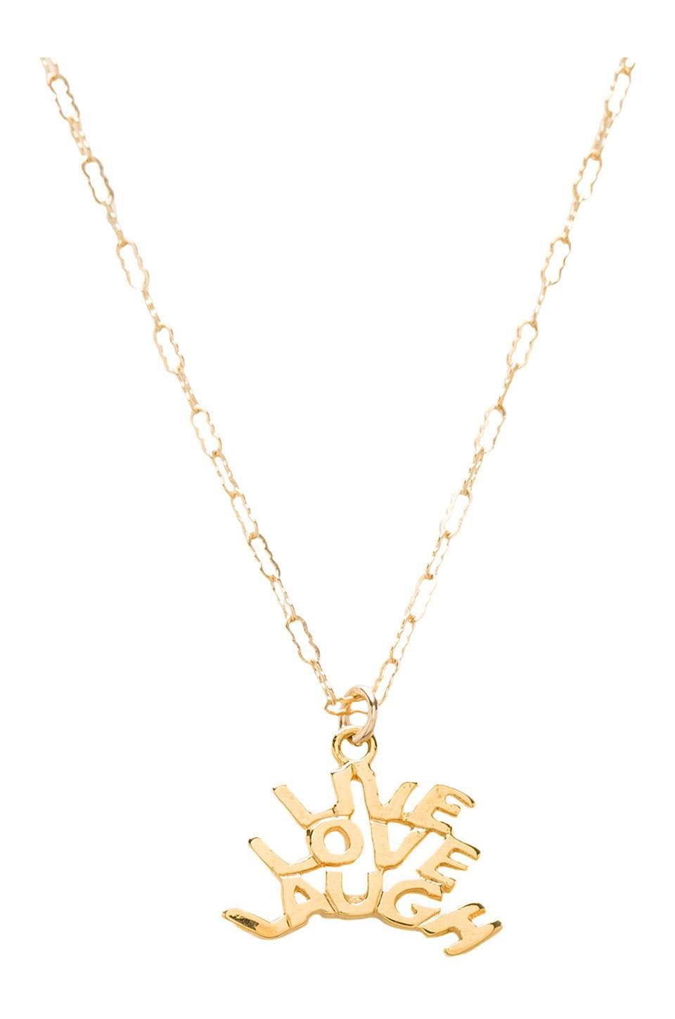 Natalie B Jewelry Natalie B Live Love Laugh in Gold