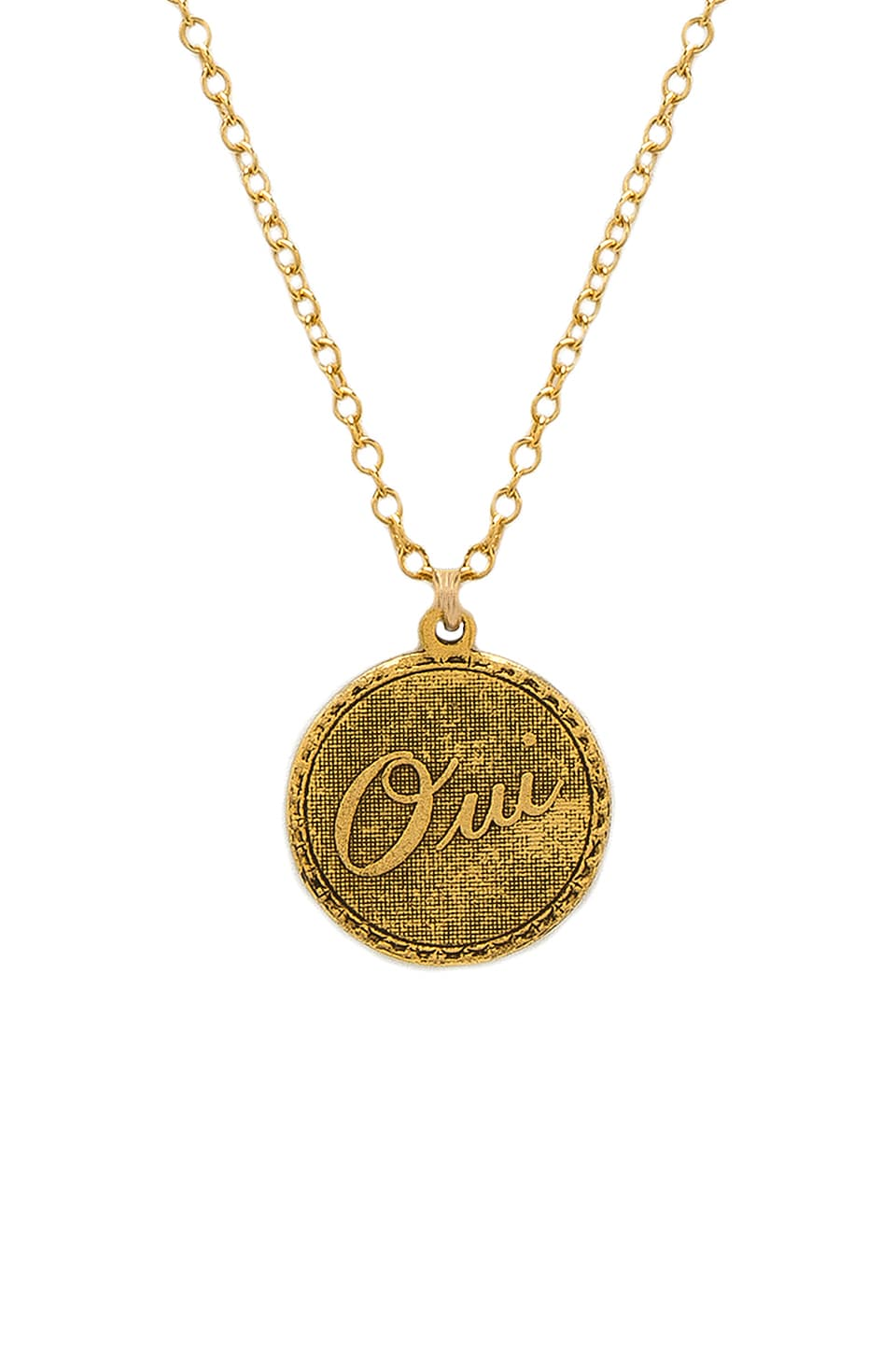 Amour Charm Necklace in Gold Natalie B Jewelry YfTMz5H
