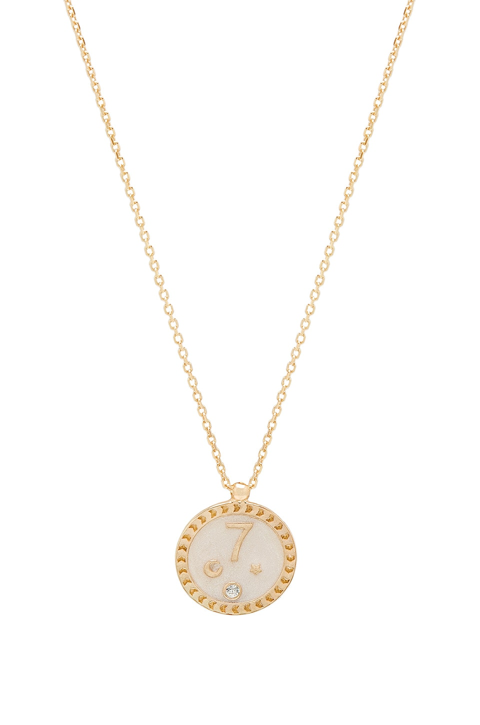 NATALIE B JEWELRY Count Your Lucky Stars Necklace in Metallic Gold