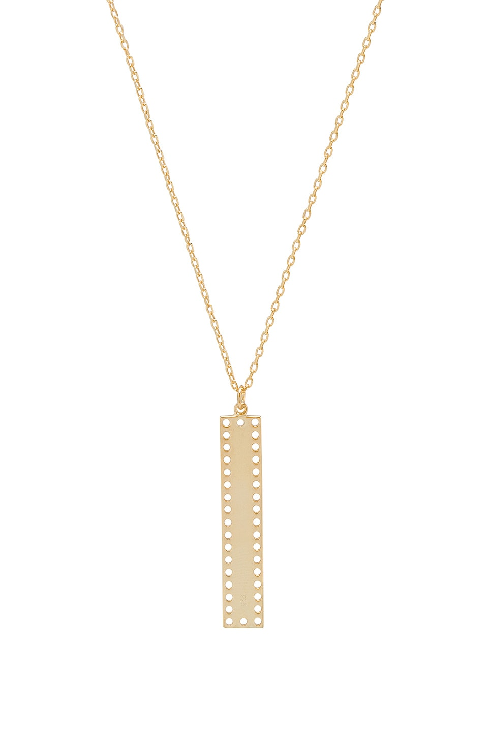 NATALIE B JEWELRY Dusk Bar Necklace in Metallic Gold