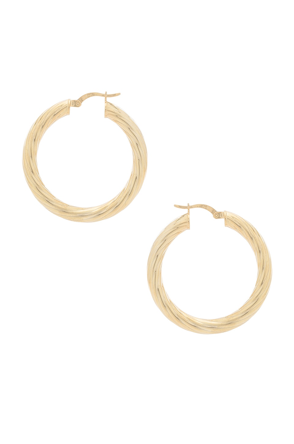 NATALIE B JEWELRY Halo Hoops in Metallic Gold