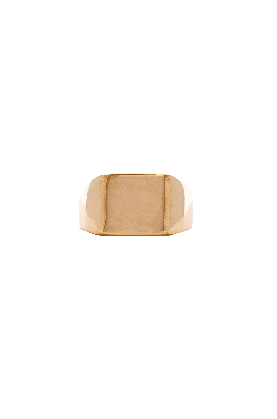 NATALIE B JEWELRY Midnight Signet Ring in Metallic Gold