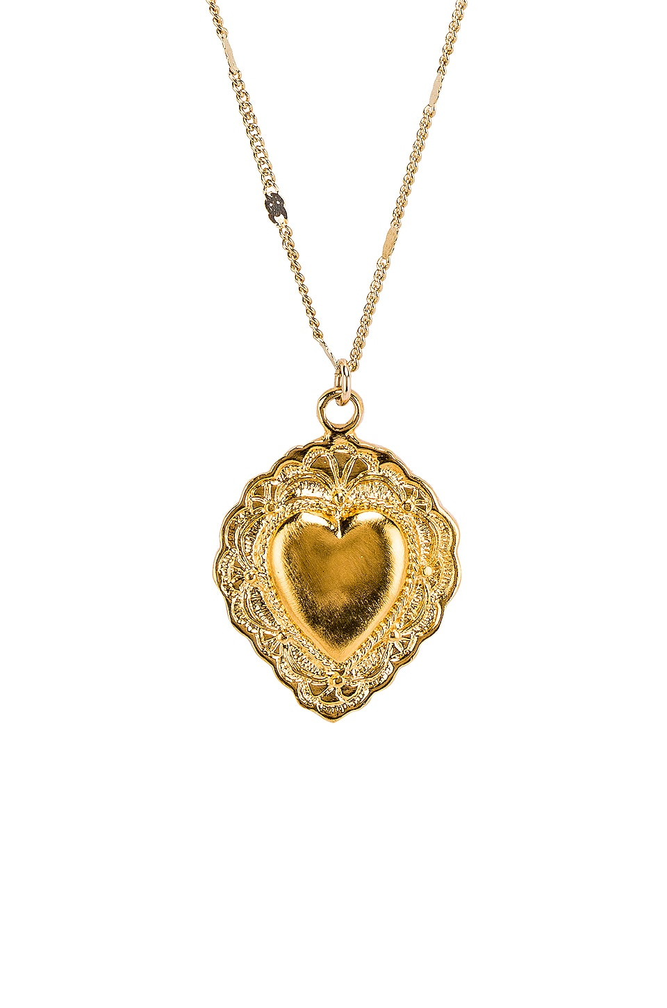 Natalie B Jewelry Sacred Heart Necklace in Gold