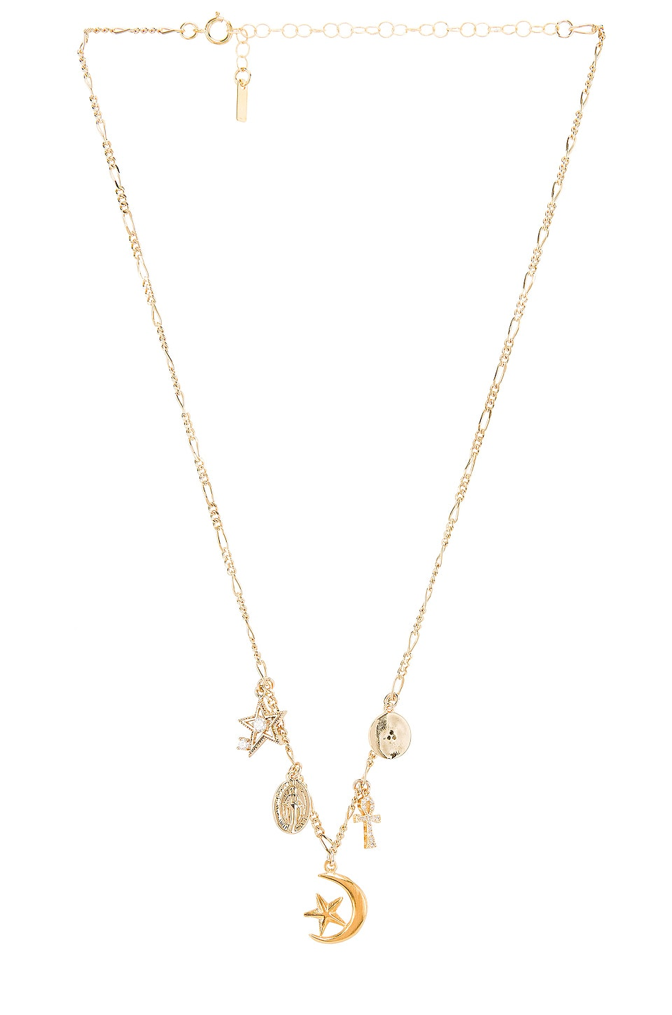 Natalie B Jewelry Celestial Charm Necklace in Gold