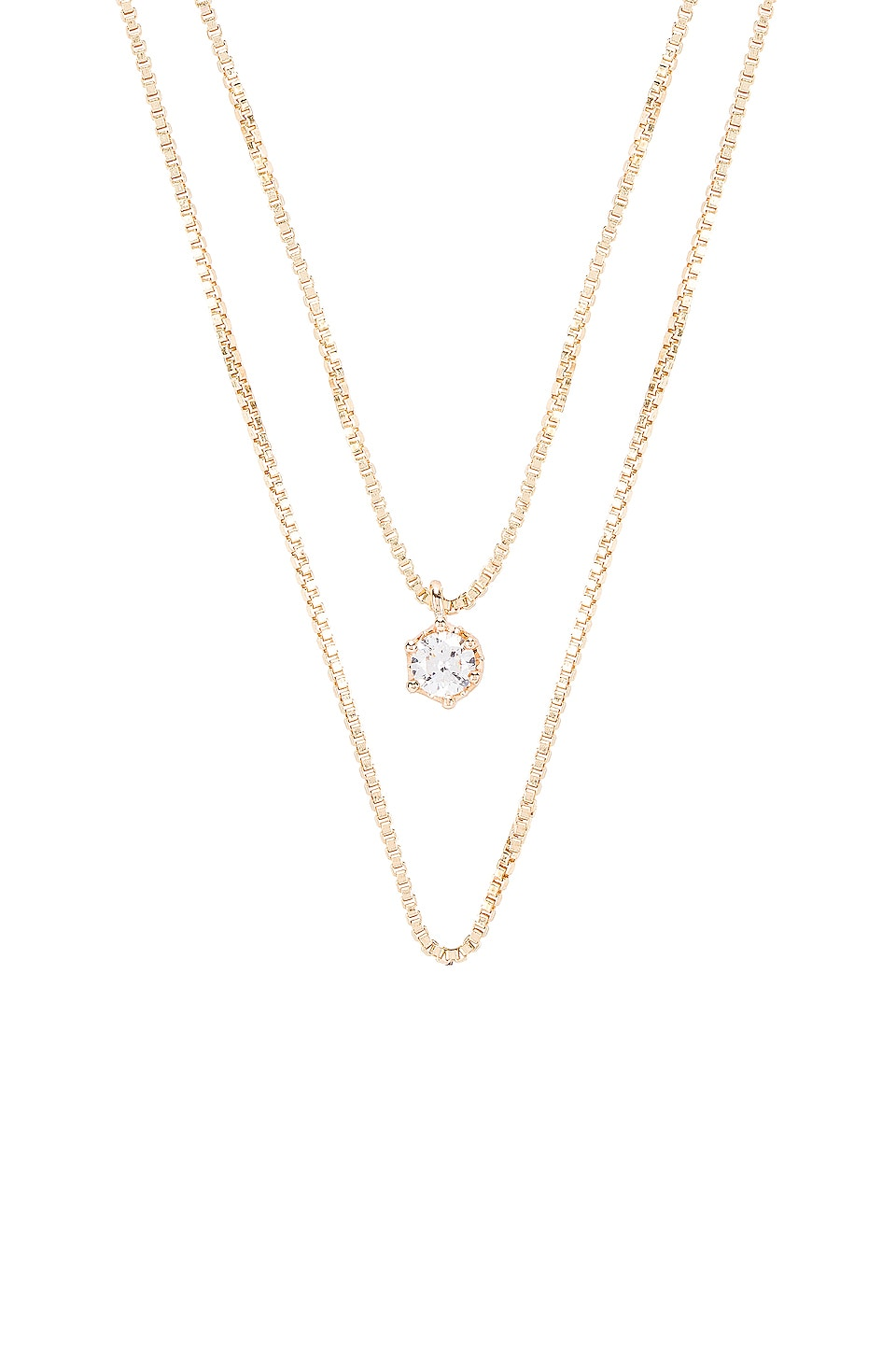 Natalie B Jewelry April Birthstone Necklace in Diamond