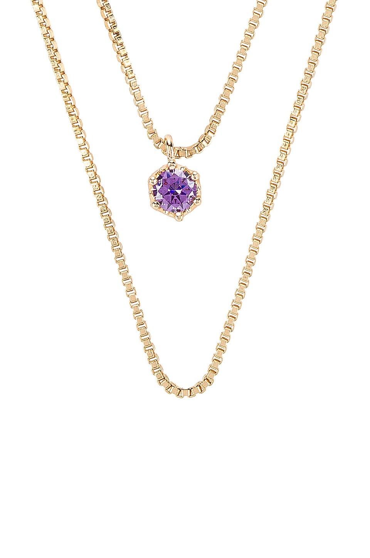 Natalie B Jewelry February Birthstone Necklace in Amethyst