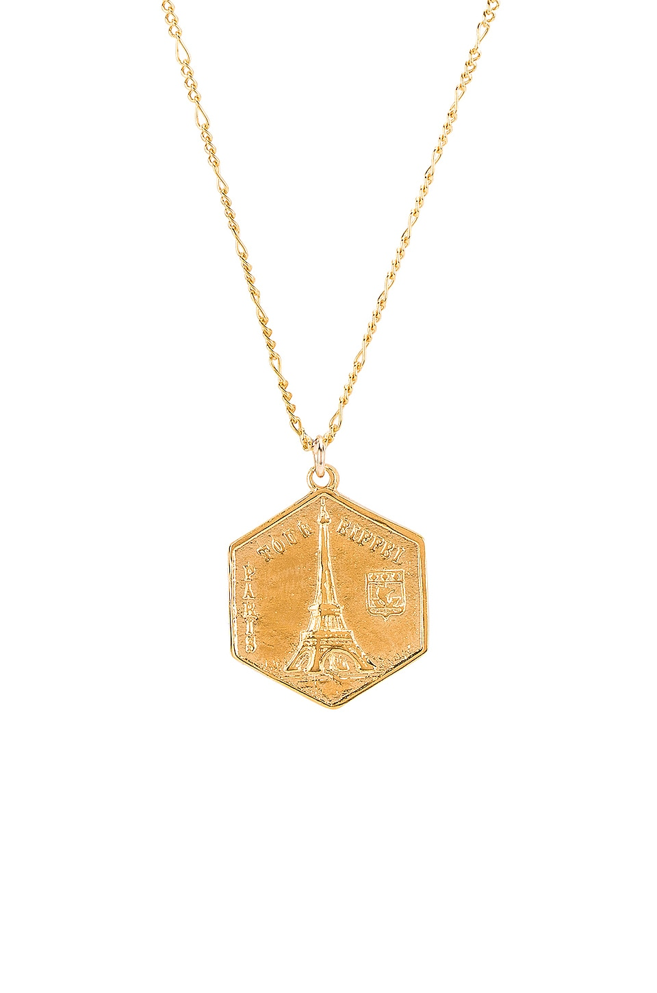 Natalie B Jewelry Tour De Eiffel Necklace in Gold