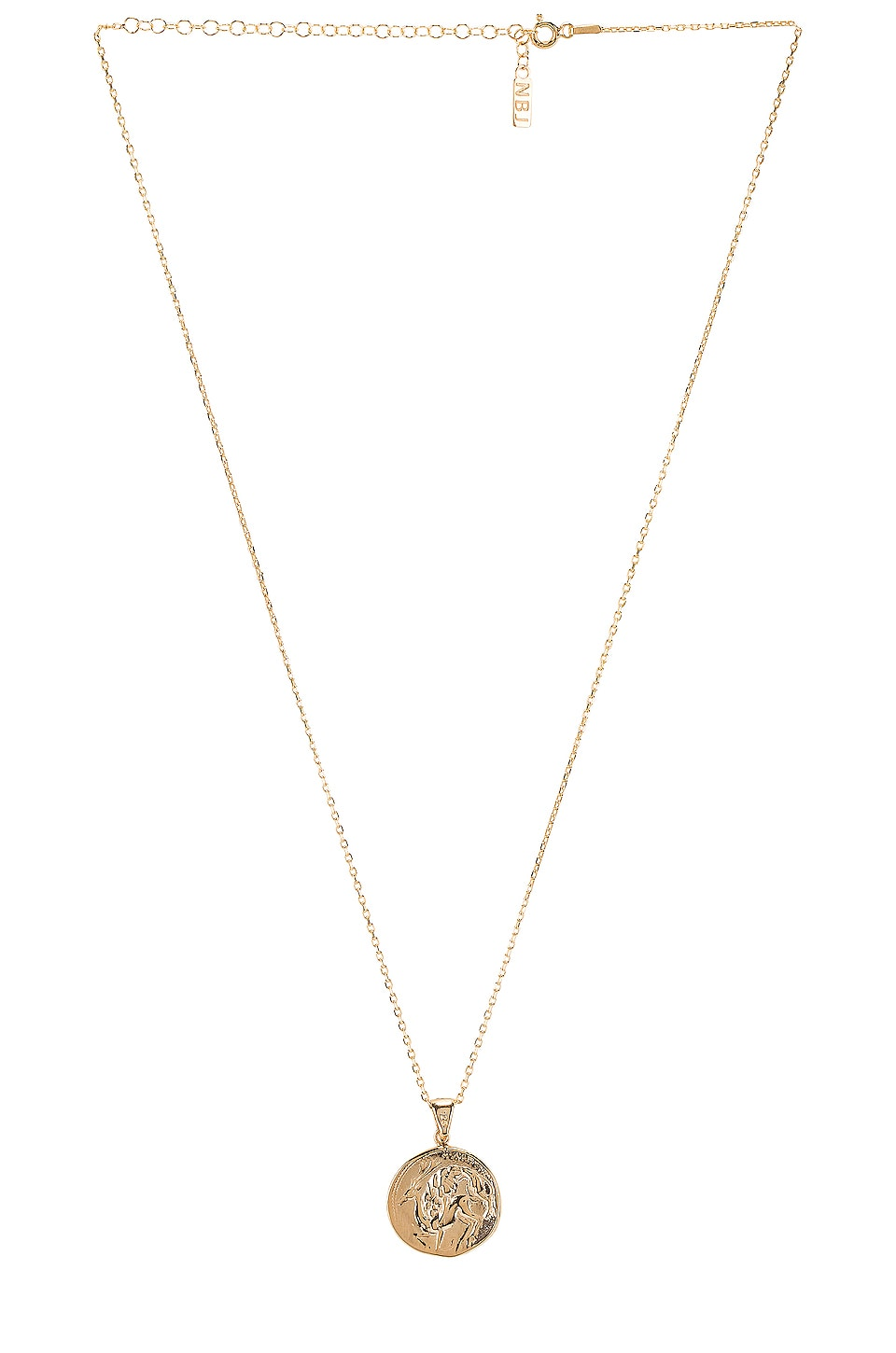 Natalie B Jewelry The Protector Reversible Coin Pendant Necklace in Gold