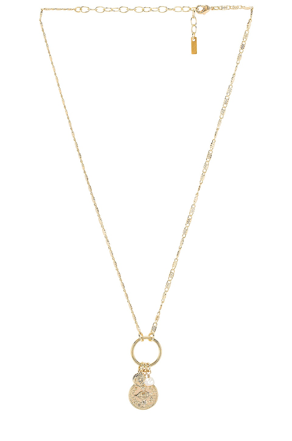 Natalie B Jewelry Good Fortune Necklace in Gold