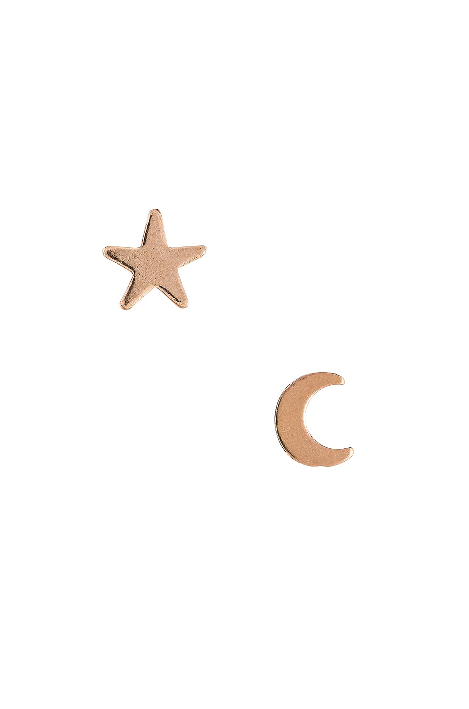 Natalie B Jewelry Moon & Star Studs in Gold