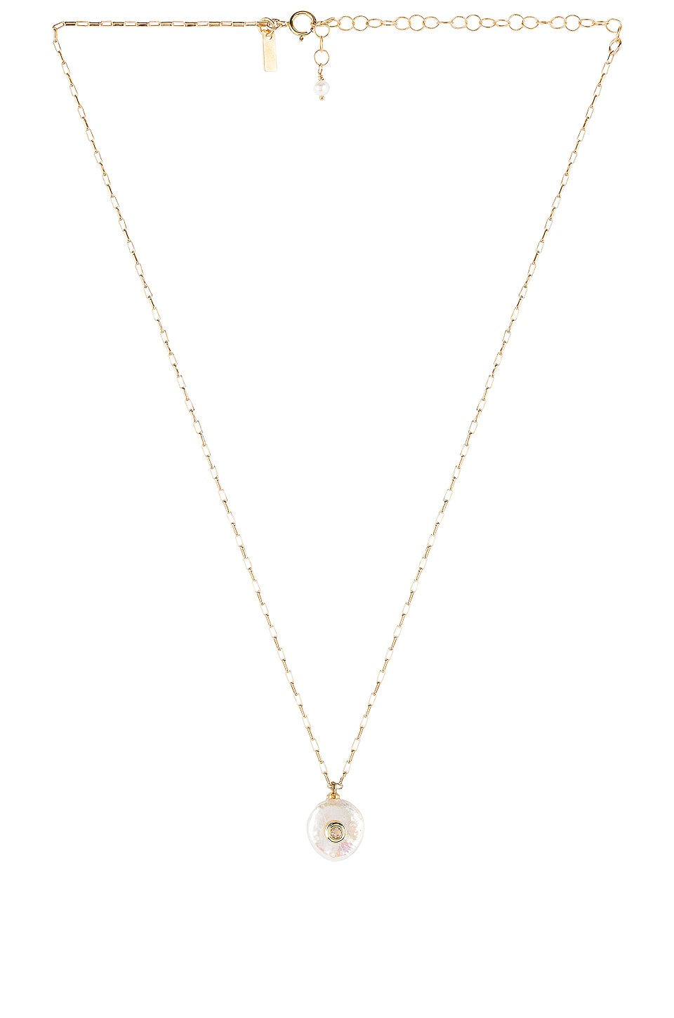 Natalie B Jewelry Pearl Of Love Necklace in Gold