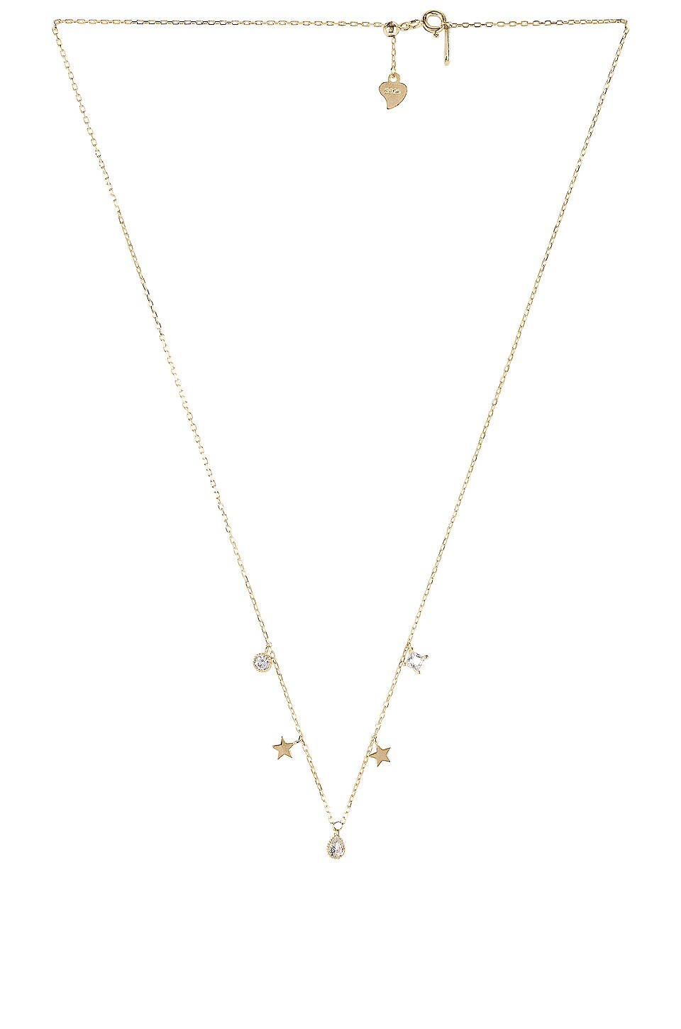 Natalie B Jewelry Celestial Slider Necklace in Gold