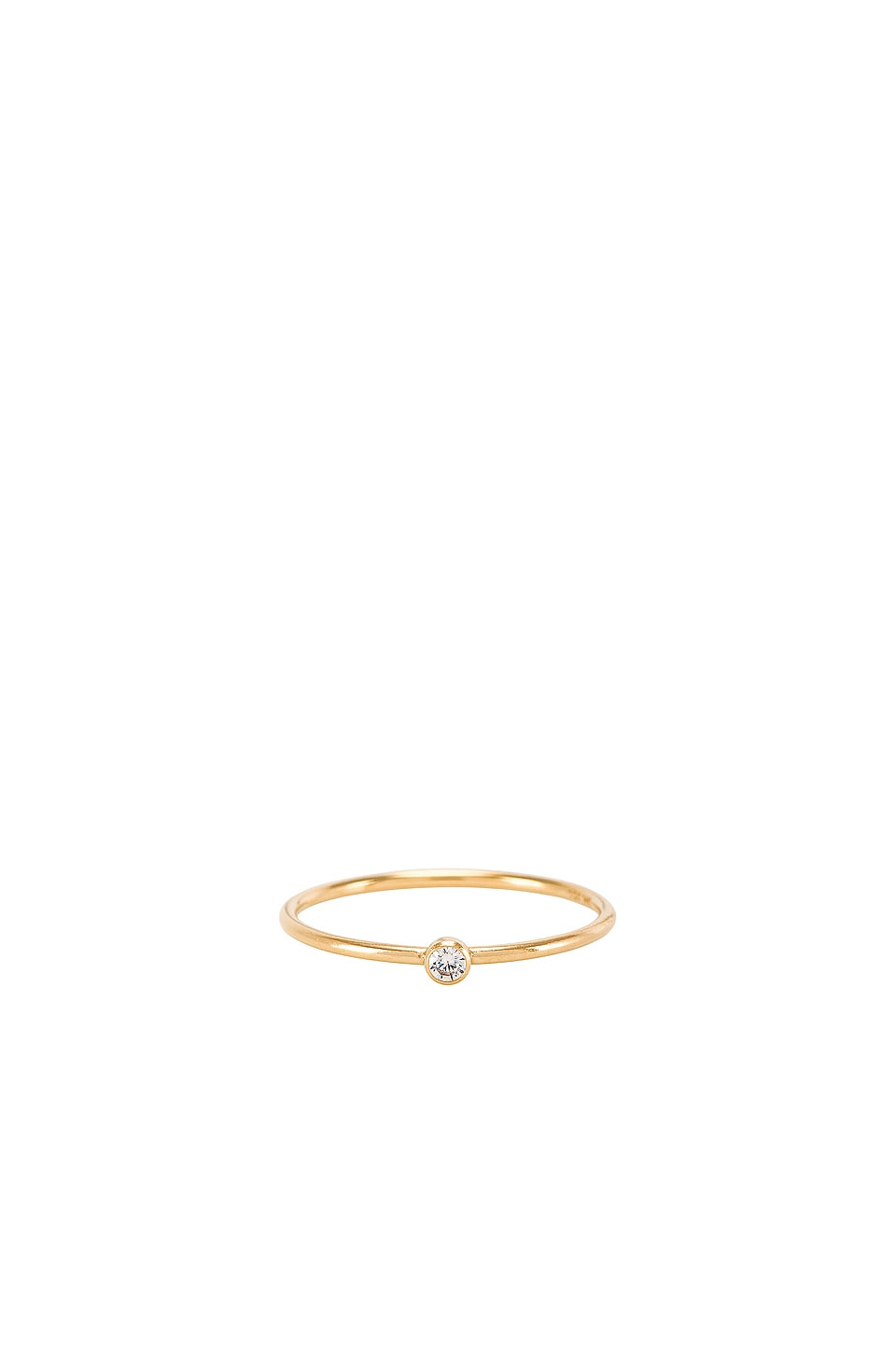 Natalie B Jewelry Gio Plain Stacking Ring in Gold