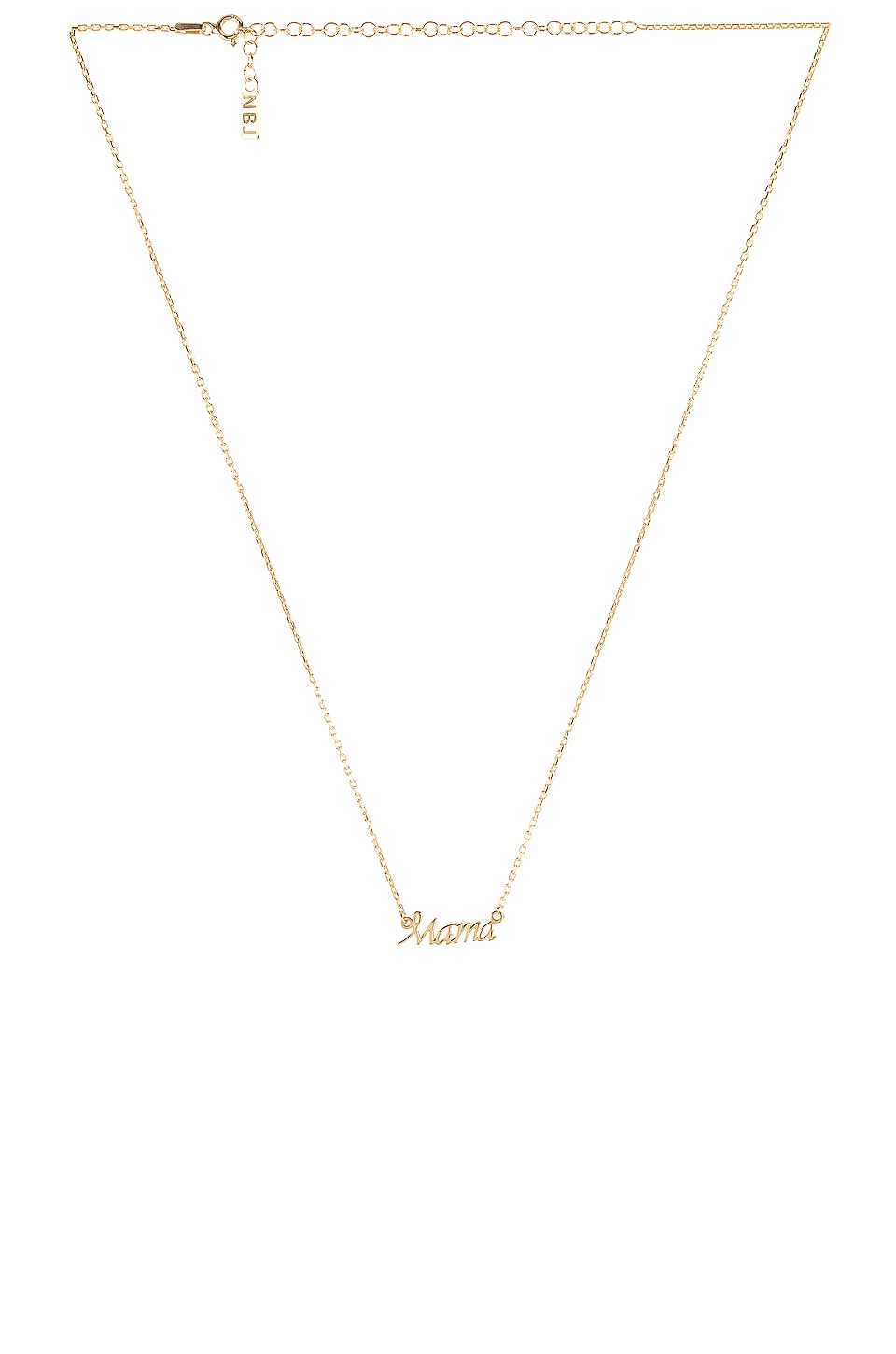 Natalie B Jewelry Mama Necklace in Gold