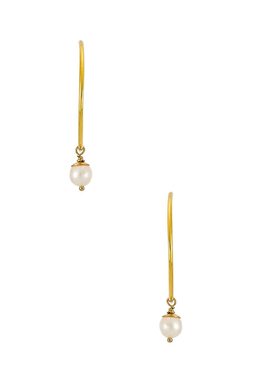 Natalie B Jewelry Mini Heavenly Hoops in Gold