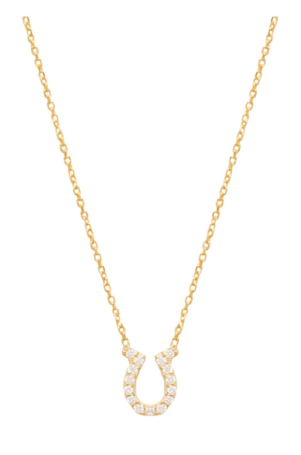 Natalie B Jewelry Horseshoe Necklace in Gold