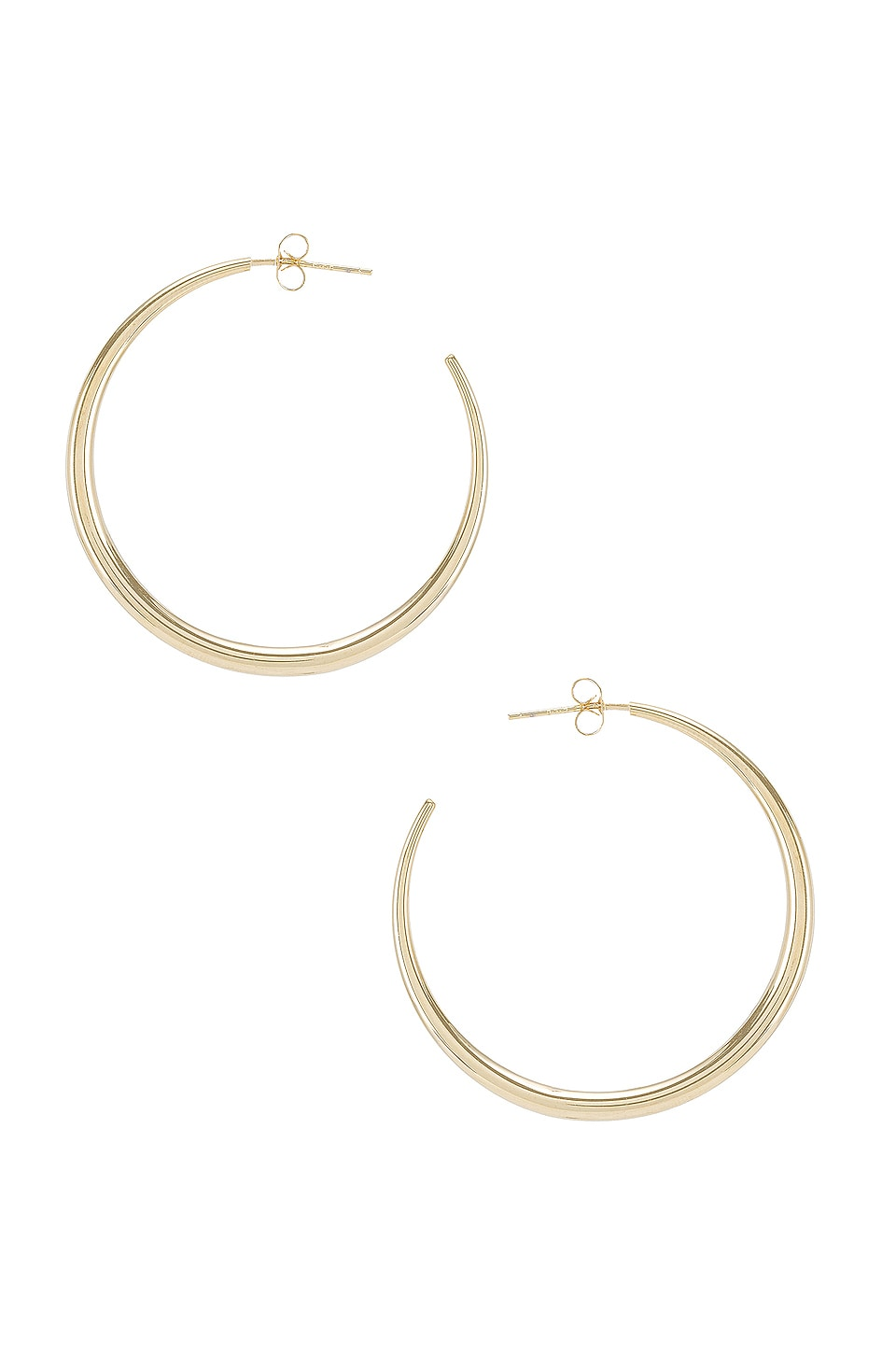 Natalie B Jewelry Behare Hoops in Gold