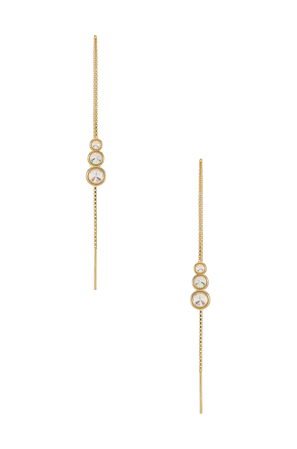 Natalie B Jewelry Anys Triple Drop Threader in Gold