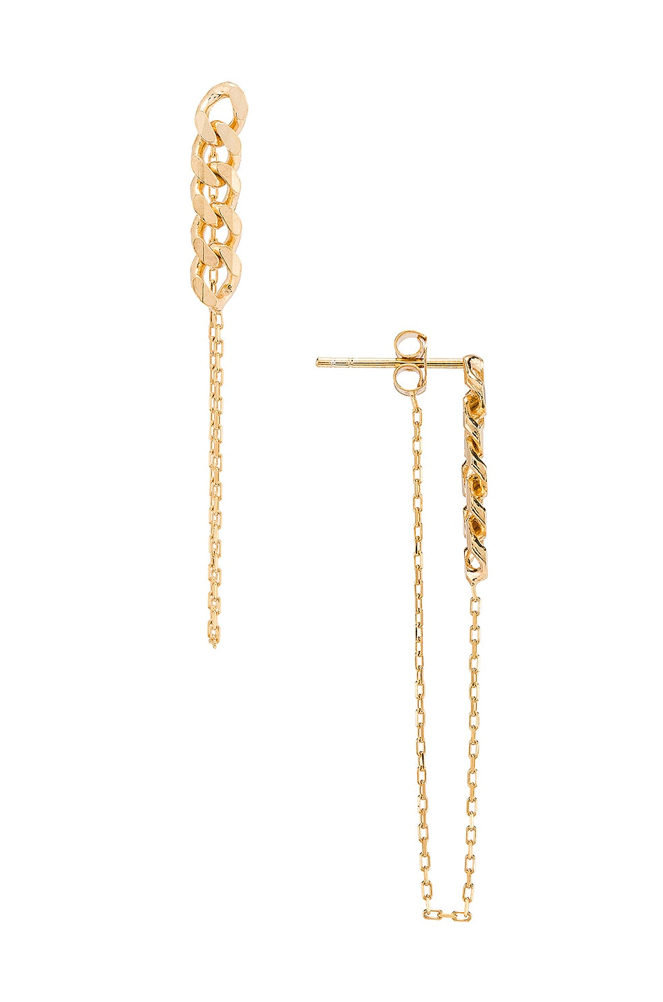 Natalie B Jewelry Lennox Chain Earring in Gold