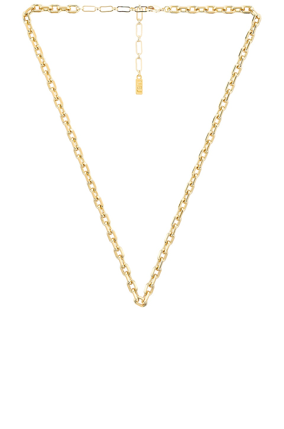 Natalie B Jewelry Ottilia Hearty Oval Necklace in Gold