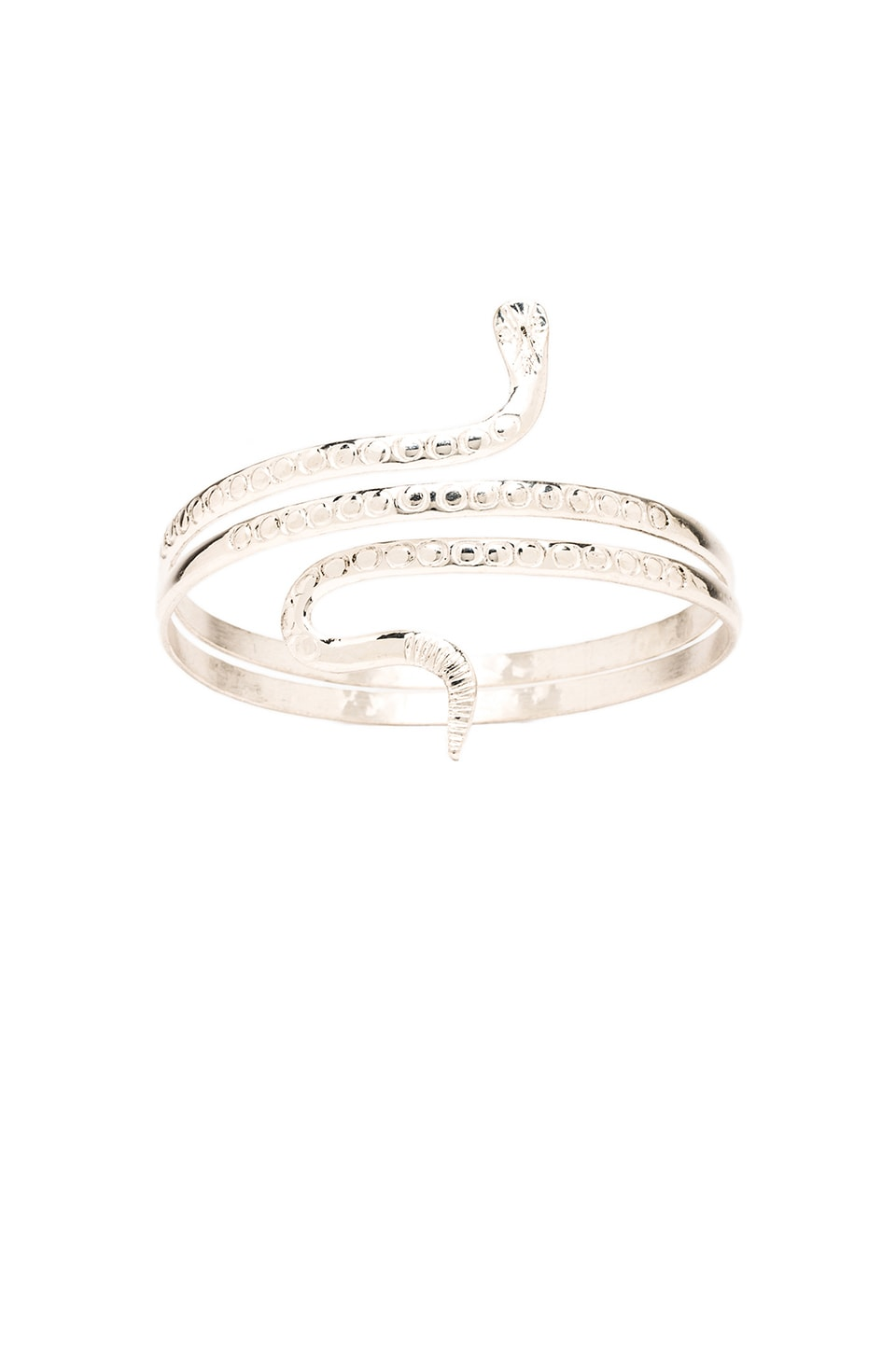 Natalie B Jewelry Serpent Armband in Silver