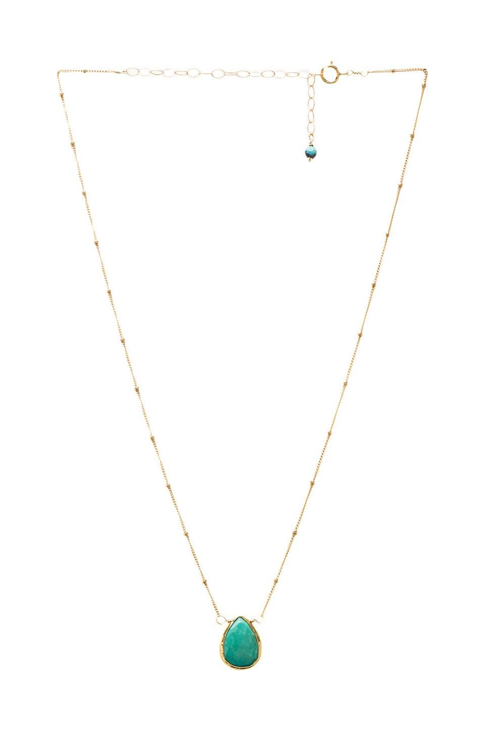 Natalie B Jewelry Natalie B Stone Drops Necklace in Turquoise
