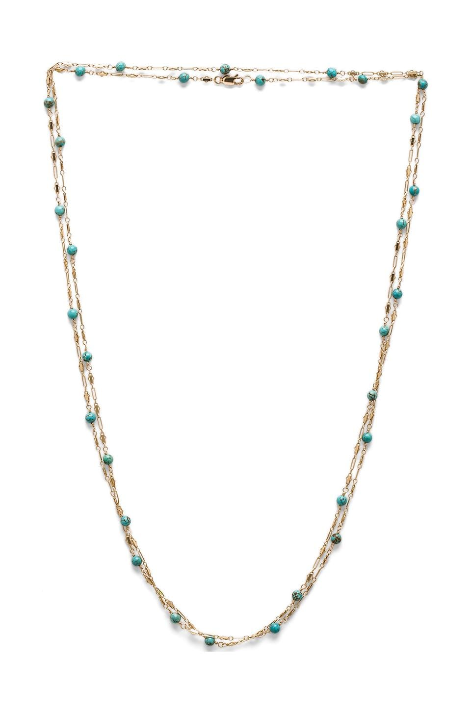 Natalie B Jewelry Baby Boho Wrap Necklace in Turquoise