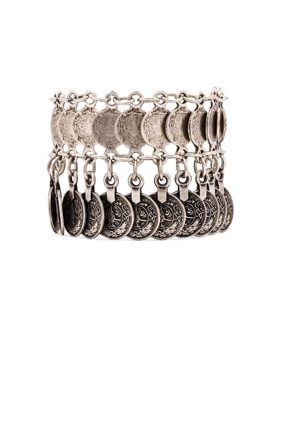 Natalie B Jewelry Nomad Anklet in Silver