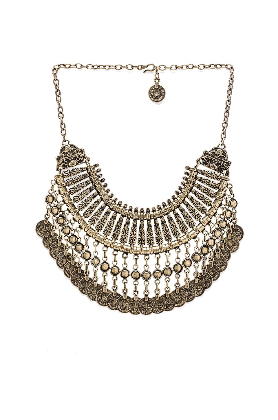 Natalie B Jewelry Fit for a Queen Necklace in Brass