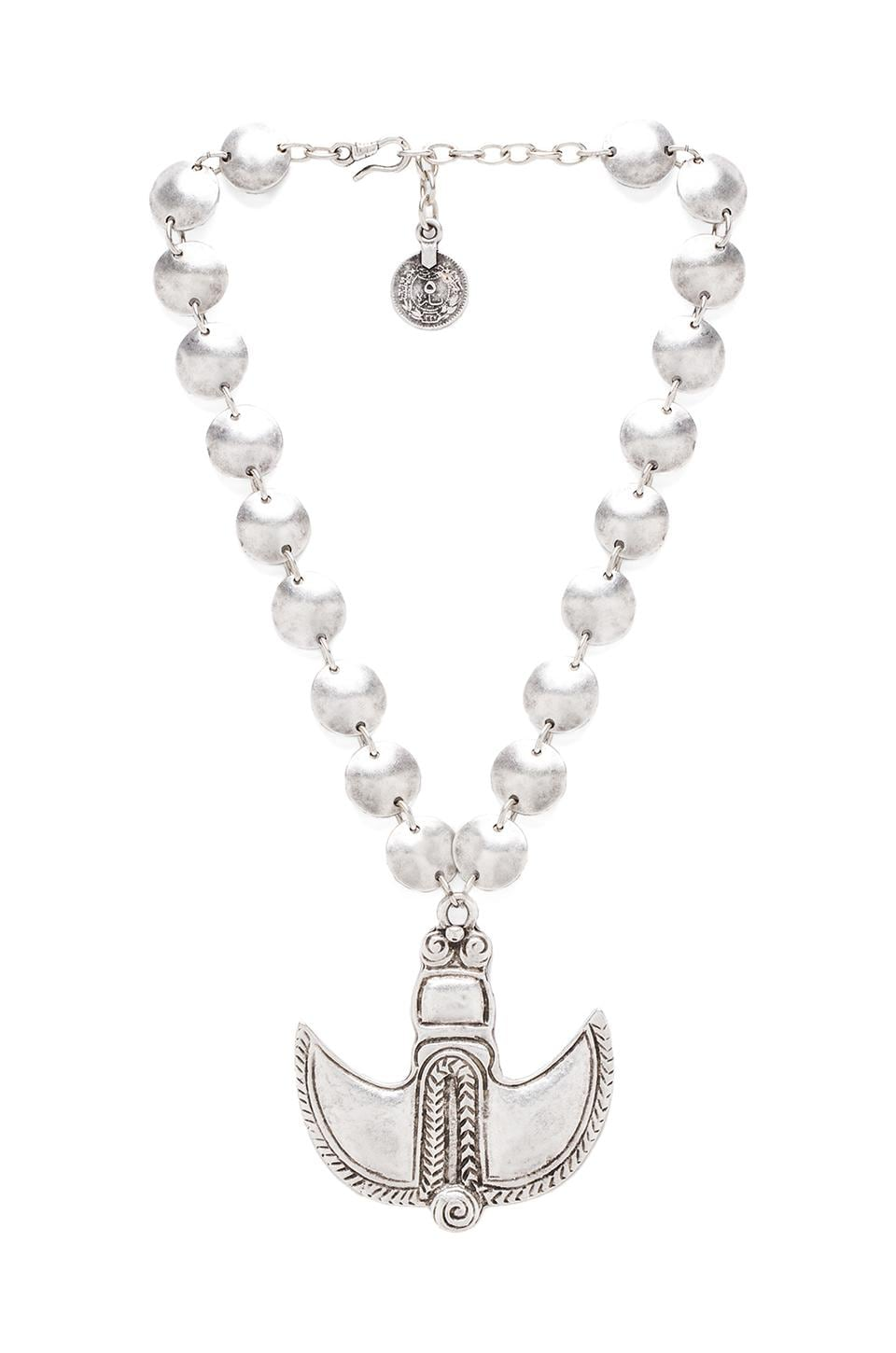 Natalie B Jewelry Sultan's Blade Necklace in Silver