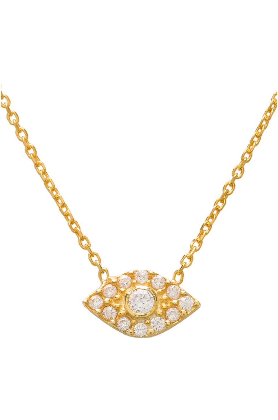 Natalie B Jewelry Natalie B Ottoman Evil Eye Necklace in Gold