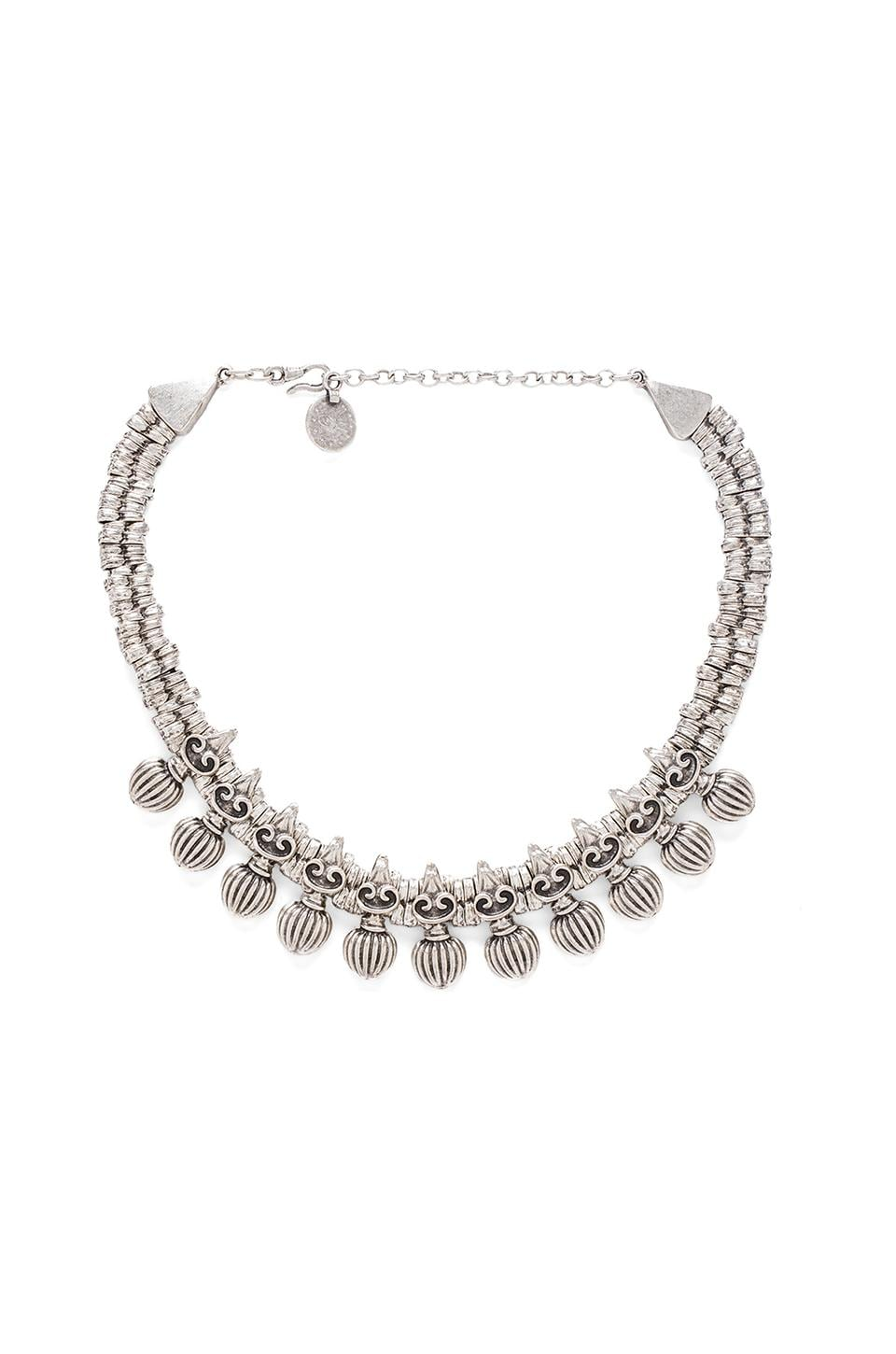 Natalie B Jewelry Triton Necklace in Silver