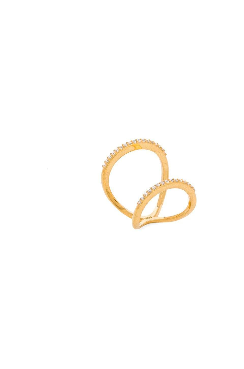 Natalie B Jewelry Infinity Ring in Gold