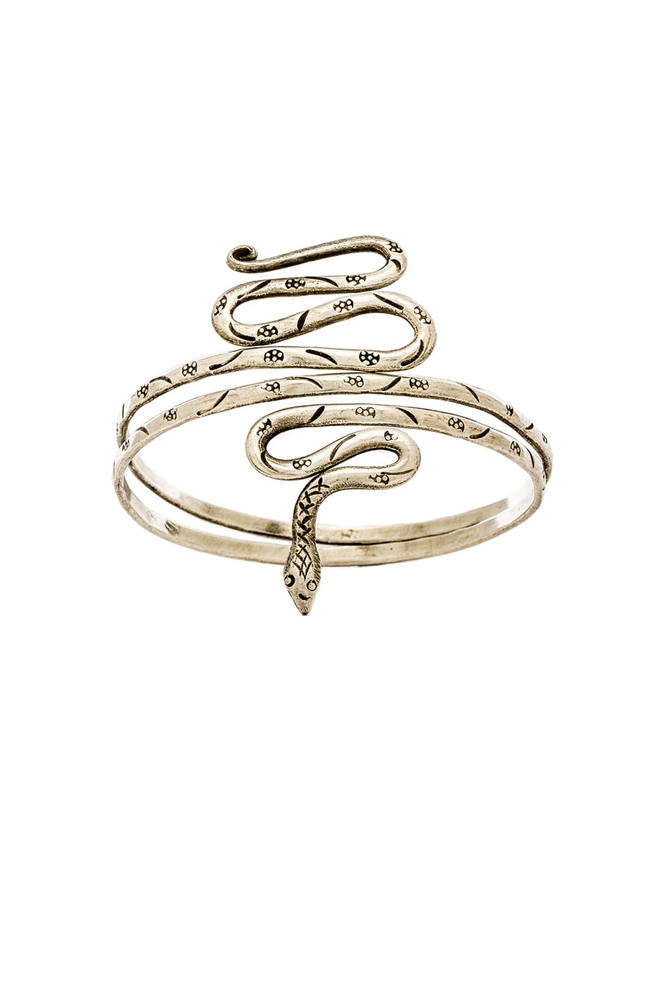 Natalie B Jewelry Python's Grip Armband in Silver